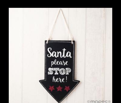 Cuadro para colgar indicación navideña ANW901