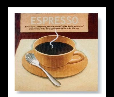 CUADRO SERIE CAFE EXPRESSO CHOCOLATE - AGY27640CHOCOLATE