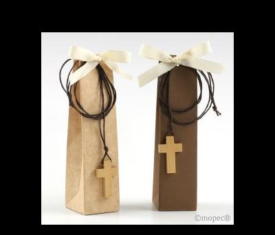 Estuche colgante cruz 2 torinos stdo marron/beige,  AKB019