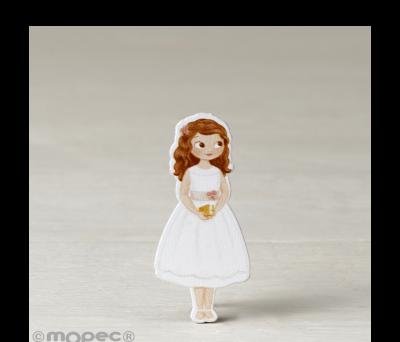 Figura 2D adhes. niña Comunión vestido corto. 5.5cm. min.10 AW0917