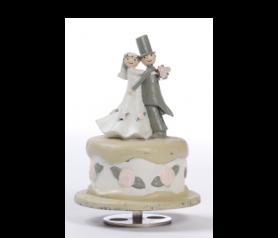 Figura de novios en tarta musical - 21ABIS3106