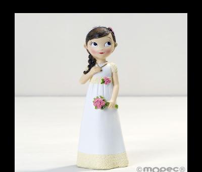 Figura niña Comunión vestido romántico. 16.5cm. AY969
