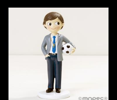Figura niño Comunión con pelota 16.5cm. AY651