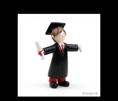 Figura pastel graduación chico 16.5cm. - AY357.3