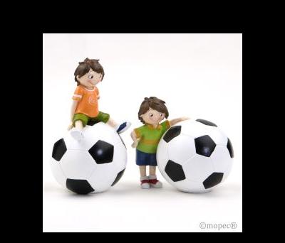 Figura pastel y hucha futbolista 20/15cm.(alto),  AY740