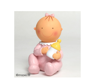 Figura pastel-hucha Pita sentada biberón 15cm - AY705.2