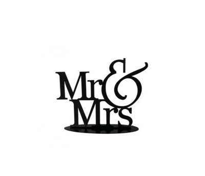 FIGURA PASTEL METÁLICA MR&MRS A2876