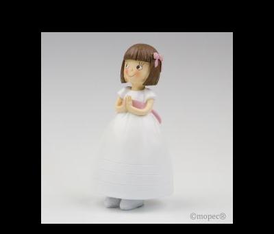 Figura pastel niña vestido princesa 16cm.  AY229