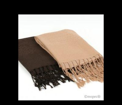 Foulards 2 stdo marrón/beige 73x183cm. AA872