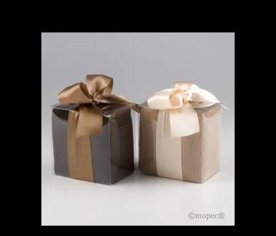 Foulards 2 stdo.marrón/beige en caja AEA872