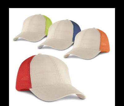 Gorra de algodón cepillado y mesh - st-99414.05