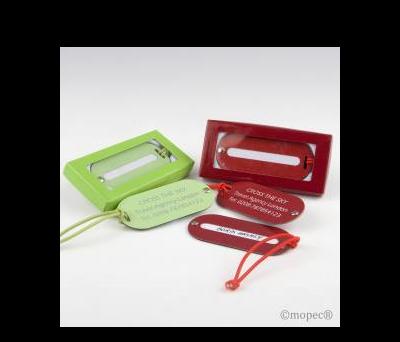 Identificador maletas verde/rojo con caja  AM9910
