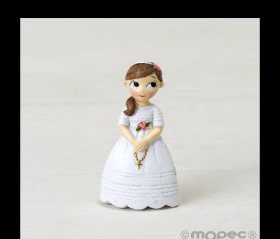 Imán resina Comunión niña con rosario.6cm.min.12 AZ8580