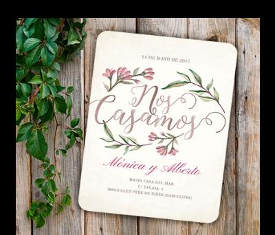 Invitaciones de boda Blooms Write A-Invitaciones-Blooms-Write