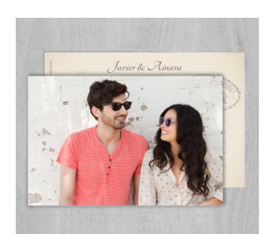 Invitaciones de boda Carte postale A-Invitaciones-Carte-postale