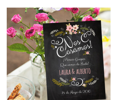 Invitaciones de boda Chalk Rose A-Invitaciones-Chalk-Rose