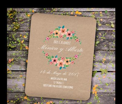 Invitaciones de boda Wildflowers Kraft A-Invitaciones-Wildflowers-Kraft