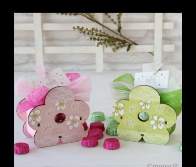 Lapicero flor madera stdo. verde/rosa 6 torinos,  AWB082