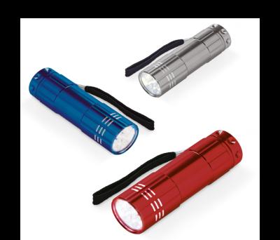 Linterna de aluminio con 9 LEDs - st-94726.05
