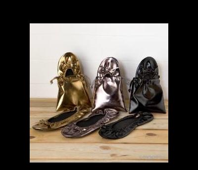 Manoletinas oro/plata/negra sdo.Talla M. AA827
