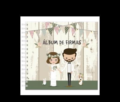 """NUEVO ALBUM DE FIRMAS """"NOVIOS"""" A2819"""