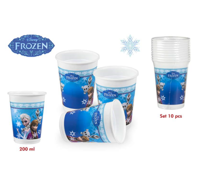 PACK 10 VASOS FROZEN 200 ML para regalar A7026