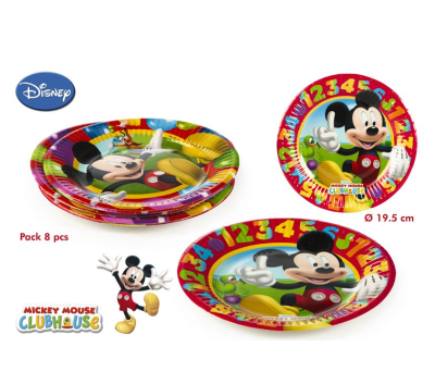 PACK 8 PLATOS MICKEY para regalar A7033
