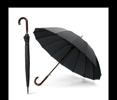 Paraguas de 16 varillas con cabo y mango en madera - st-99136.03