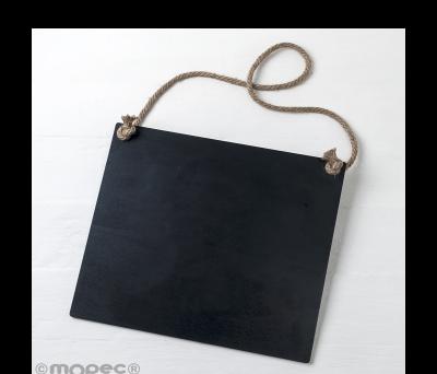 Pizarra negra con cordel 30x27x0.5cm. AW327