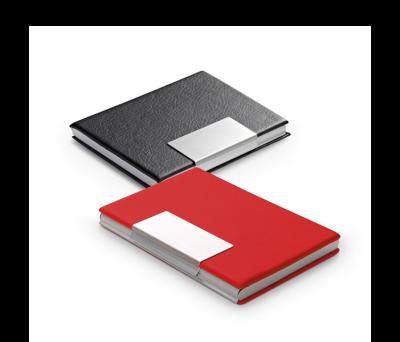 Porta-tarjetas de aluminio y polipiel - st-93307.05