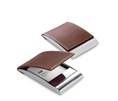 Porta-tarjetas de metal y polipiel - st-93308.01