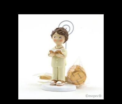 Portafoto niño traje beige Comunión 2bombones AZB175