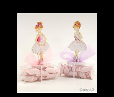 Portafotos bailarinas madera 2mod. 13cm. 16caramelos,  AWD6520