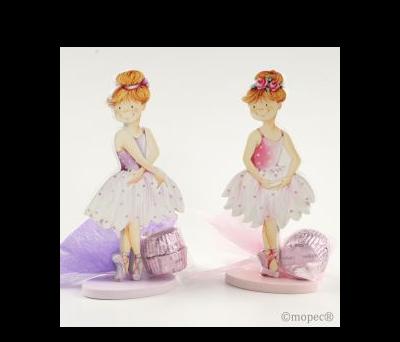 Portafotos bailarinas madera 2stdo.13cm. 2torinos. AWB652