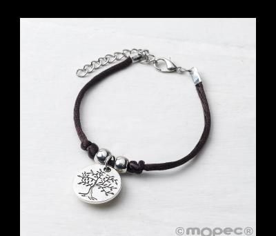 Pulsera con medalla árbol/life is a gift.min.4 AK4252