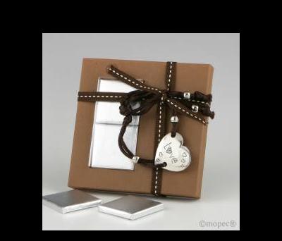 Pulsera regulable corazón LOVE en caja marrón 2napolitanas - AEB2014.19