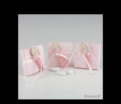 Punto libro bebé madera rosa en caja 3stdo. 5pel.  - AWP874.02