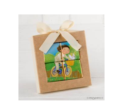 Puzle 4 napolitanas niño Comunión en bici* - AEB9120.3