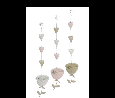 Rosa con corazones colgante - 21ABIS3115