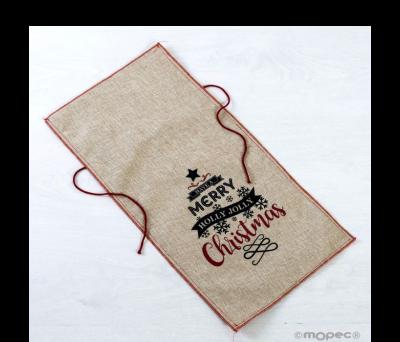 Saco navideño polyester 24x50cm.Have a Merry Christmas ANA1800