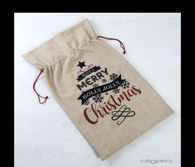 Saco navideño polyester 45x75cm.Have a Merry Christmas ANA18