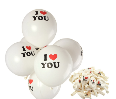 SET 100 GLOBOS _c2_I LOVE YOU_c2_ para regalar A7082