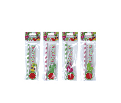 SET 4 PCS PAPELERÍA TROPICAL EXOTIC A8679