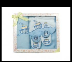 Set babero, manta y peucos Azul para detalles de invitadosA010-957470