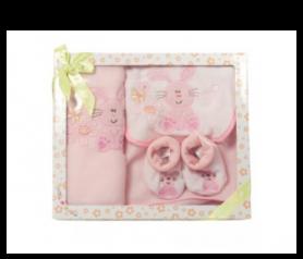 Set babero, manta y peucos Rosa para detalles de invitadosA010-957440