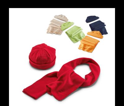 Set bufanda y gorro de tejido polar - st-99014.04