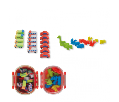 SET GOMAS PLAY TRANSPORTES ANIMALES - AGY35530ANIM