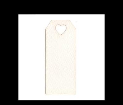 Tarjeta blanca agujero corazón 3x7cm (preciox24u). - AX4500.01