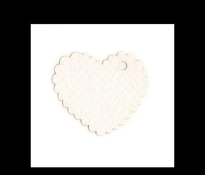 Tarjeta blanca corazón 5x4cm (preciox30u) - AX400.01