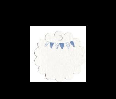 Tarjeta flor banderita niño. 3cm.(preciox54u.) - AX225.3